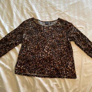 Leopard Print long sleeve top